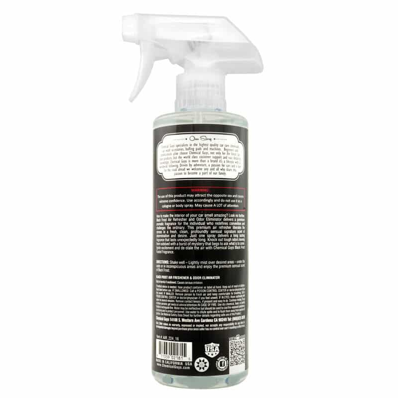 deo pour voiture chemical guys black forst